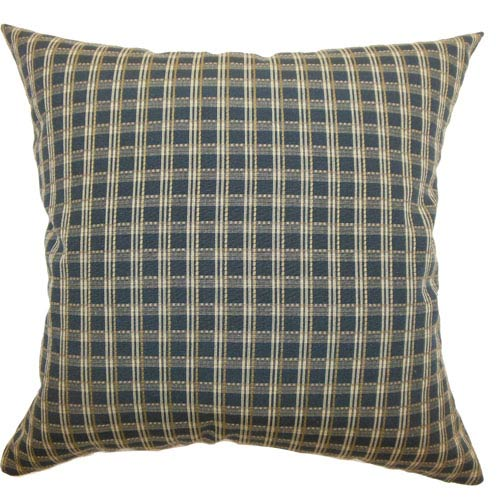 The Pillow Collection Ydun Plaid Pillow Black Tan