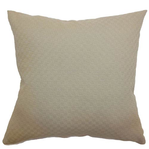 The Pillow Collection Gaudente Weave Pillow Tan