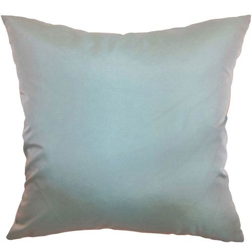 The Pillow Collection Quinta Plain Pillow Aqua