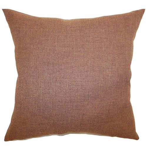 The Pillow Collection Thaliard Plain Pillow Brown