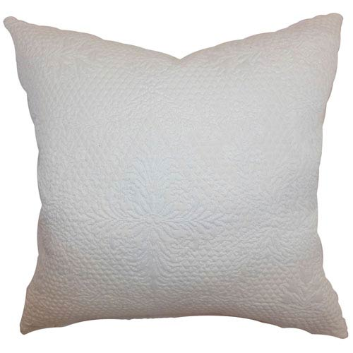 The Pillow Collection Xafina Quilted Pillow Creme