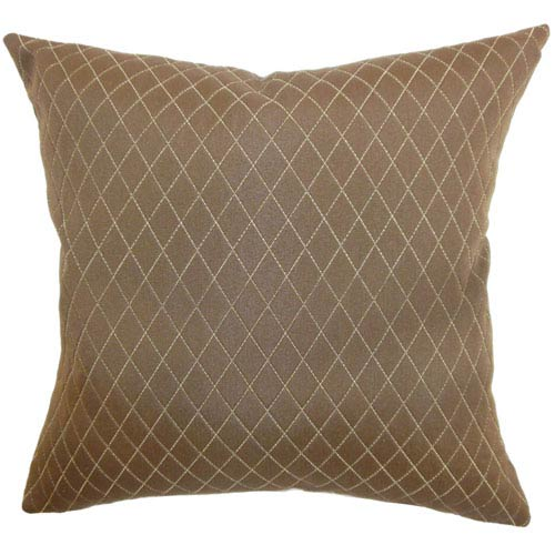 The Pillow Collection Yaana Diamond Pillow Brown