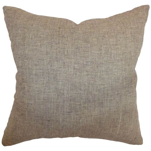The Pillow Collection Aachien Weave Pillow Beige