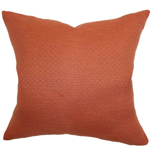 The Pillow Collection Iduna Plain Pillow Rust