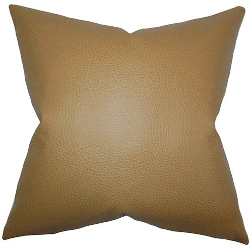 The Pillow Collection Quintas Neutral 18 x 18 Solid Throw Pillow