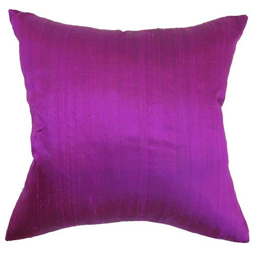 The Pillow Collection Ekati Purple 18 x 18 Solid Throw Pillow
