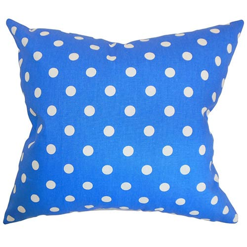 The Pillow Collection Nancy Paris Blue 18 x 18 Patterned Throw Pillow