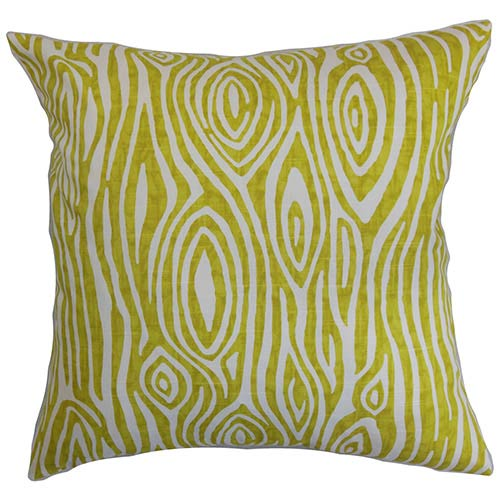 The Pillow Collection Thirza Green 18 x 18 Geometric Throw Pillow