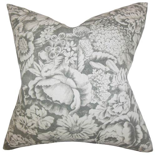 The Pillow Collection Elspeth Gray 18 x 18 Floral Throw Pillow