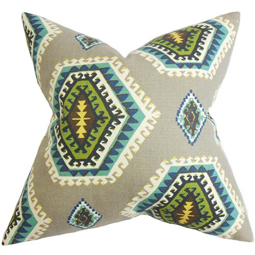 The Pillow Collection Lorne Gray 18 x 18 Geometric Throw Pillow