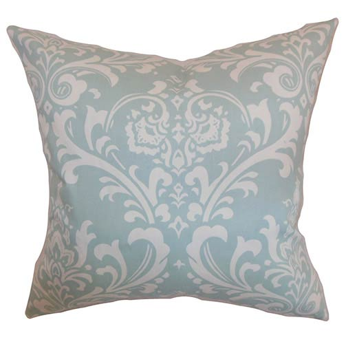 The Pillow Collection Malaga Powder Blue 18 x 18 Patterned Throw Pillow