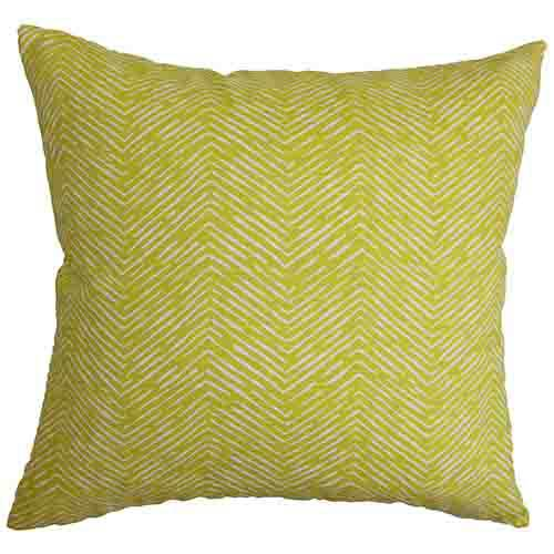 The Pillow Collection Edythe Green 18 x 18 Zigzag Throw Pillow