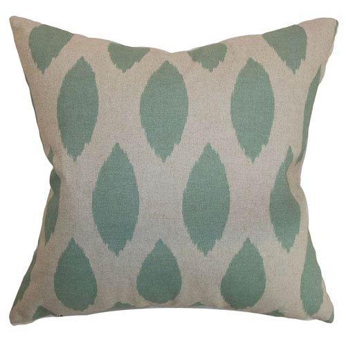 The Pillow Collection Juliaca Ikat Pillow Eaton Blue Linen