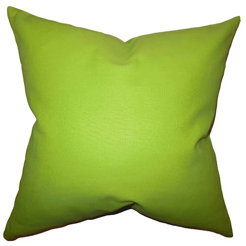 The Pillow Collection Kalindi Green 18 x 18 Solid Throw Pillow