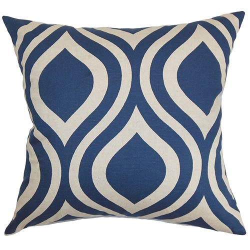 The Pillow Collection Larch Purple 18 x 18 Geometric Throw Pillow