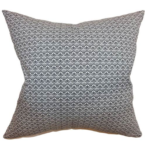 The Pillow Collection Zanzibar Geometric Pillow Black White