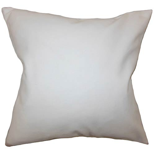 The Pillow Collection Mabel White 18 x 18 Solid Throw Pillow