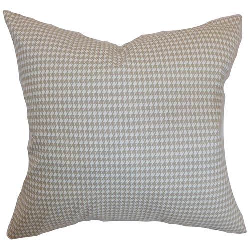 The Pillow Collection Lviv Gray 18 x 18 Plaid Throw Pillow