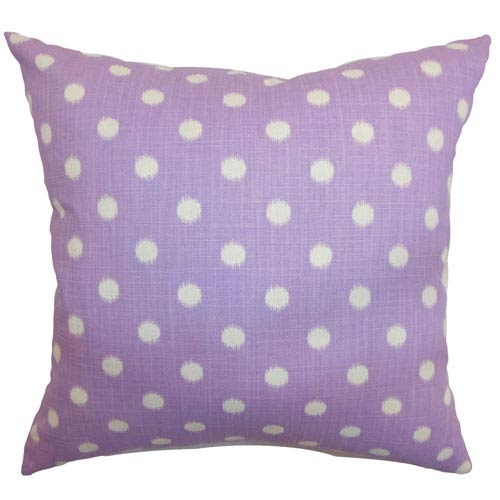 The Pillow Collection Rennice Ikat Dots Pillow Grapevine Dosset