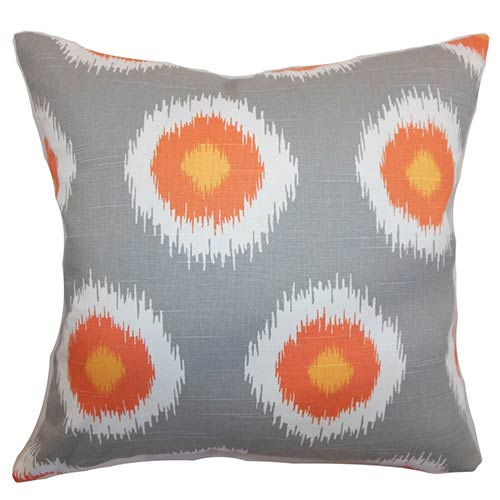 The Pillow Collection Paegna Brown 18 x 18 Patterned Throw Pillow