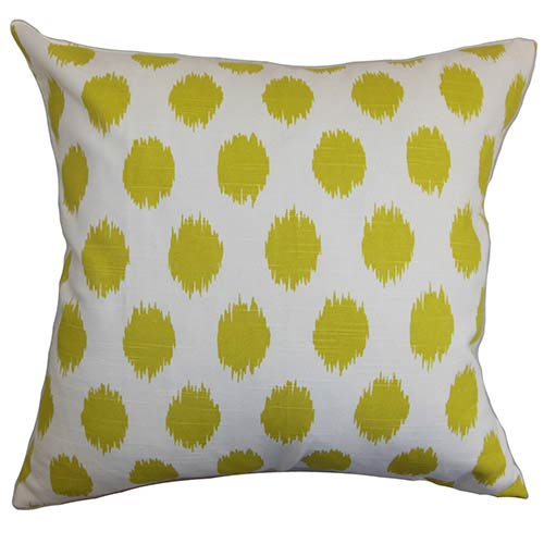 The Pillow Collection Kaintiba Green 18 x 18 Patterned Throw Pillow