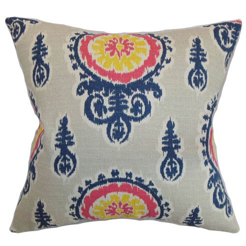 The Pillow Collection Oenpelli Floral Pillow Birch