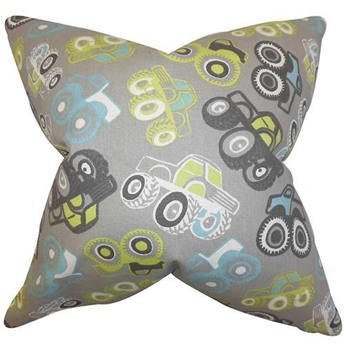 The Pillow Collection Akiva Gray 18 x 18 Geometric Throw Pillow