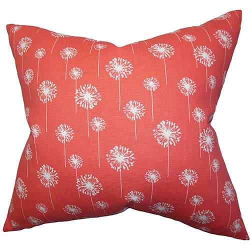 The Pillow Collection Joop Pink 18 x 18 Floral Throw Pillow