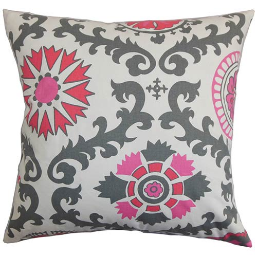 The Pillow Collection Kaula Pink 18 x 18 Geometric Throw Pillow
