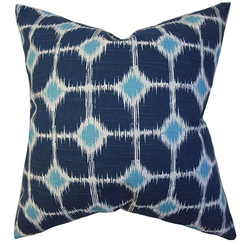 The Pillow Collection Kyd Blue 18 x 18 Geometric Throw Pillow