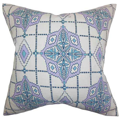 The Pillow Collection Huracan Purple 18 x 18 Geometric Throw Pillow