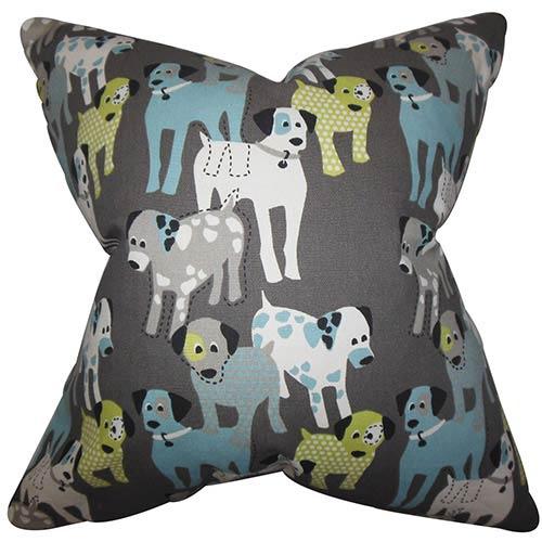 The Pillow Collection Endicott Gray 18 x 18 Animal Print Throw Pillow