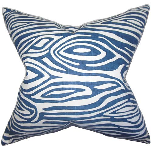 The Pillow Collection Thirza Blue 18 x 18 Geometric Throw Pillow