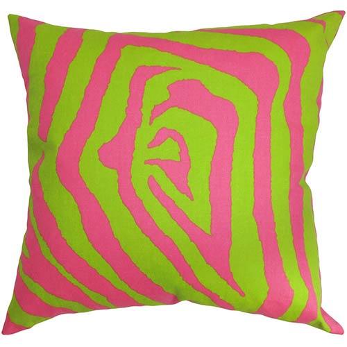 The Pillow Collection Dristi Pink 40 X 40 Zebra Print Throw Pillow Best Pink Zebra Print Decorative Pillows