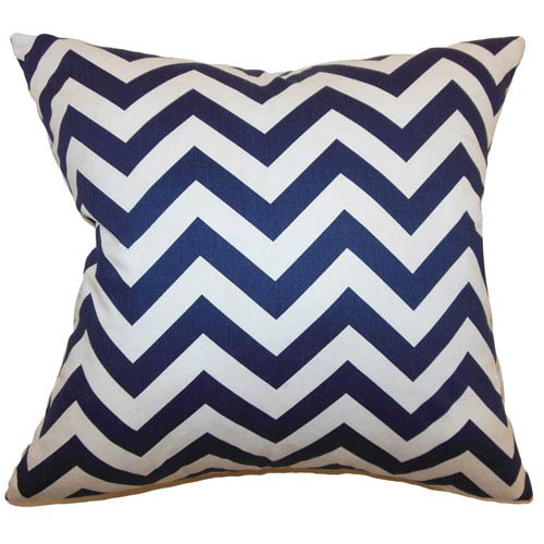 The Pillow Collection Xayabury Zigzag Pillow Blue