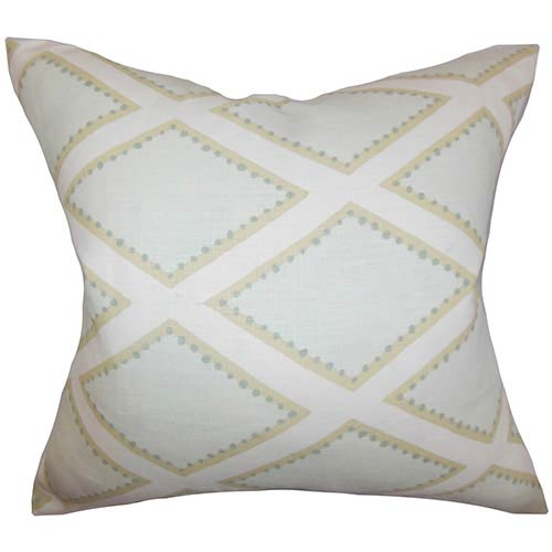 The Pillow Collection Alaric Neutral 18 x 18 Geometric Throw Pillow