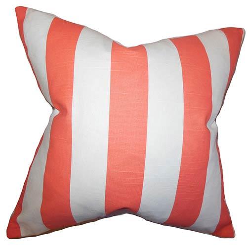 Acantha Pink 18 x 18 Stripes Throw Pillow