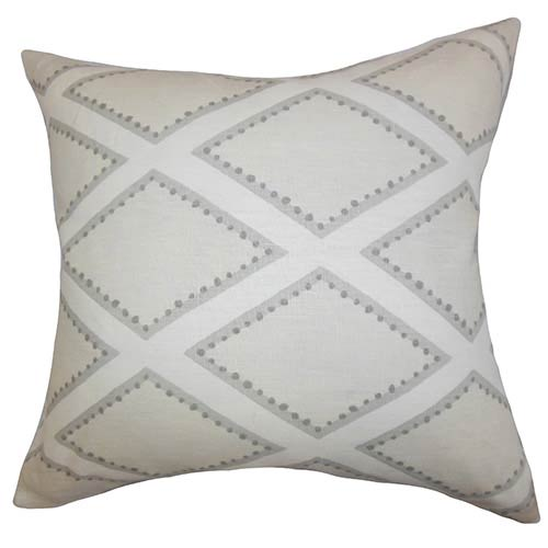 The Pillow Collection Alaric Oyster 18 x 18 Geometric Throw Pillow