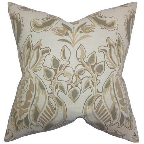 The Pillow Collection Kiriah Black 18 x 18 Floral Throw Pillow