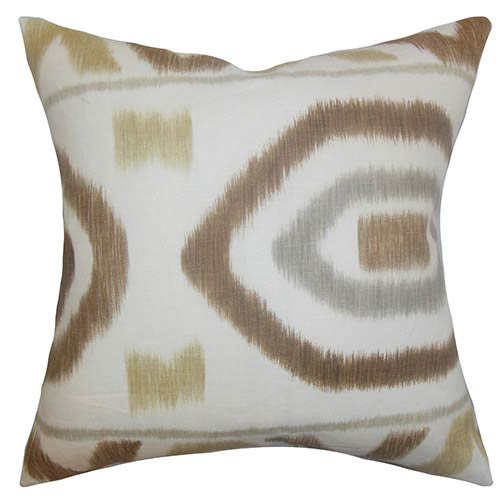 The Pillow Collection Rivka Brown 18 x 18 Geometric Throw Pillow
