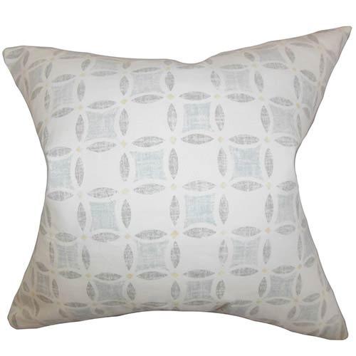 The Pillow Collection Jeune Gray 18 x 18 Geometric Throw Pillow