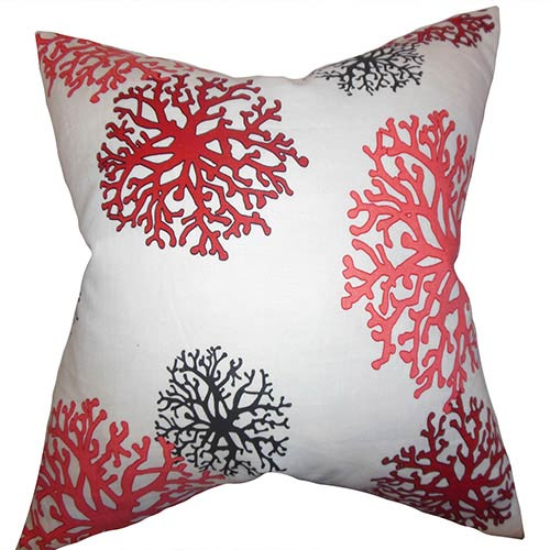 The Pillow Collection Coraline Pink 18 x 18 Coastal Throw Pillow