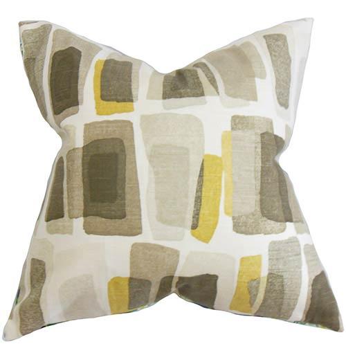 Ulla Brown 18 x 18 Geometric Throw Pillow