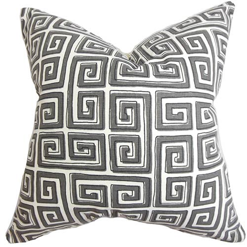 The Pillow Collection Klemens Gray 18 x 18 Geometric Throw Pillow