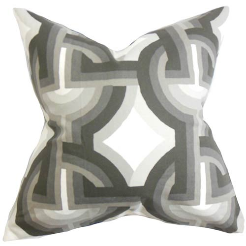 Rineke White 18 x 18 Geometric Throw Pillow