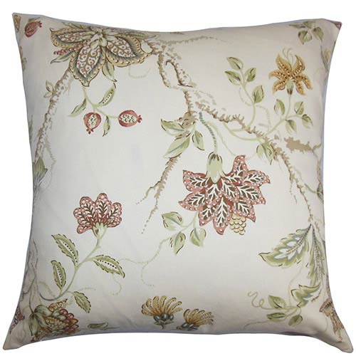 The Pillow Collection Ululani Red 18 x 18 Floral Throw Pillow