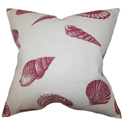 The Pillow Collection Bonnie Red 18 x 18 Coastal Throw Pillow