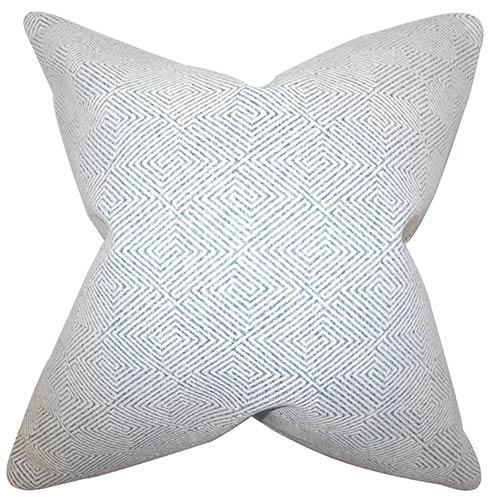 The Pillow Collection Roald Blue 18 x 18 Geometric Throw Pillow