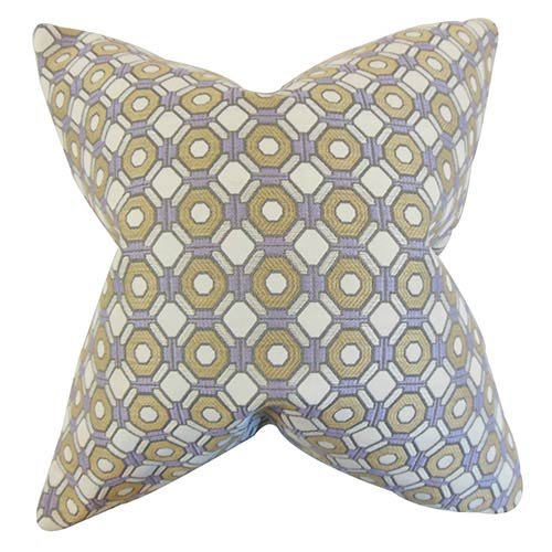 The Pillow Collection Wylie Purple 18 x 18 Geometric Throw Pillow
