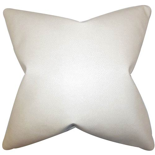 The Pillow Collection Xen White 18 x 18 Solid Throw Pillow